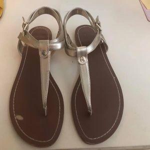 Ralph Lauren brushed gold sandals